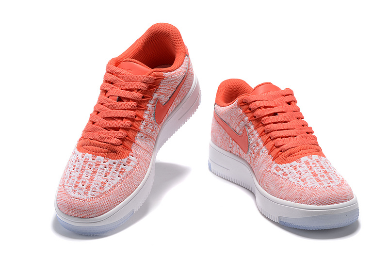 air force 1 flyknit orange et rouge pas cher,air force one