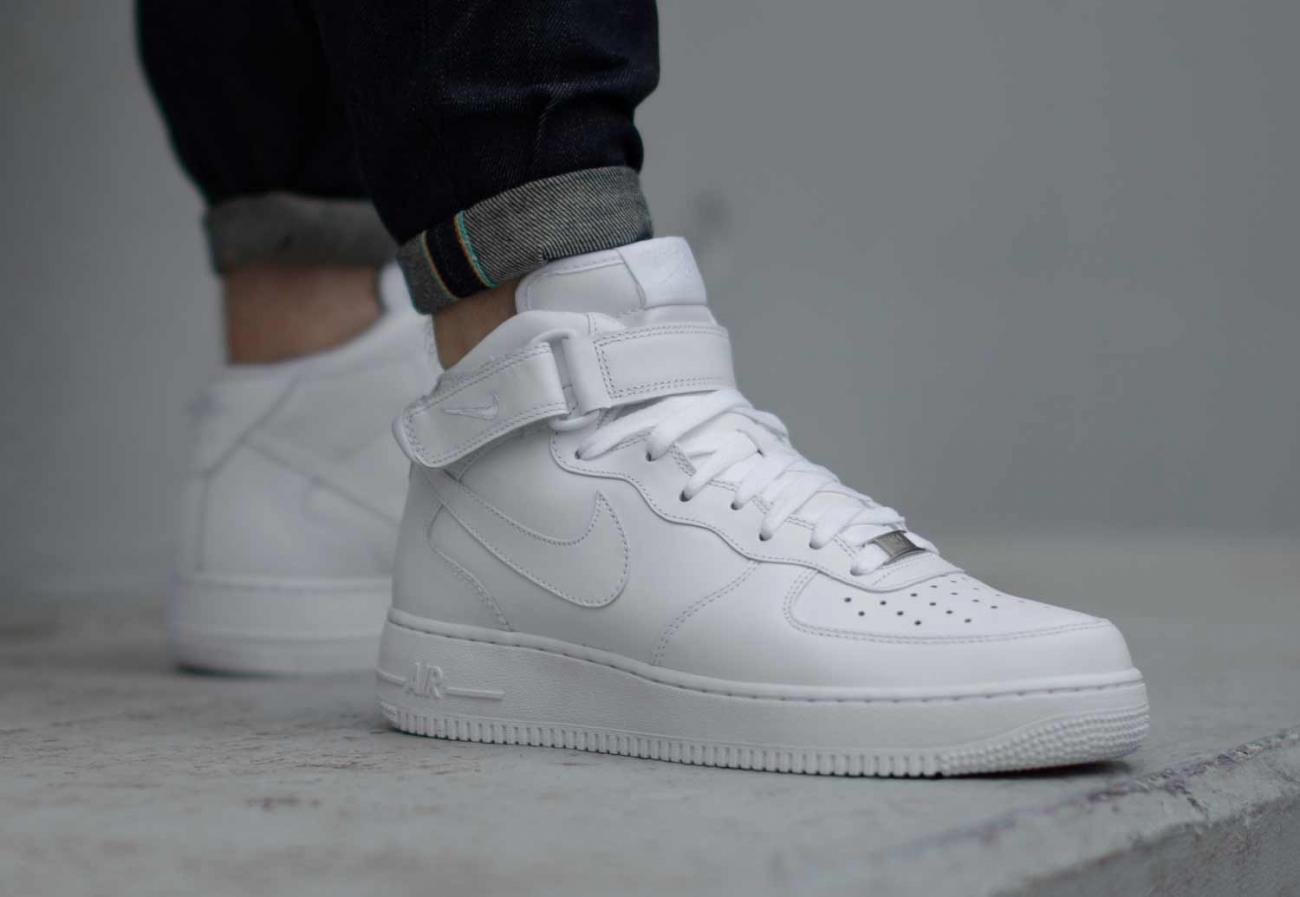 air force 1 mid blanche femme,Nike Air Force 1 Mid (Blanc